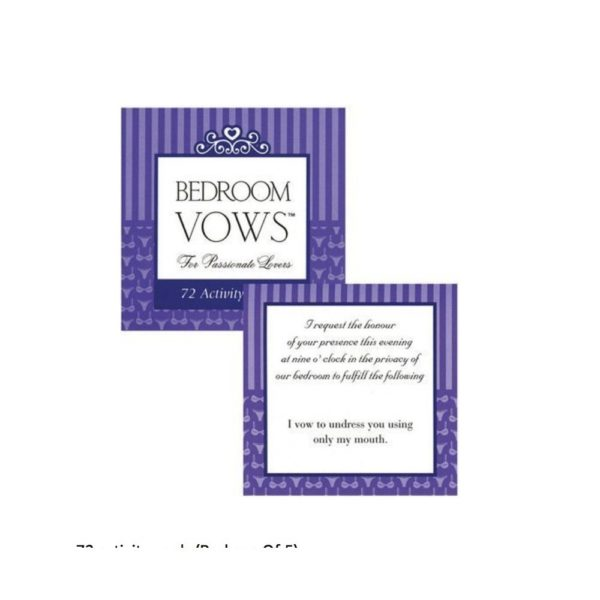 bedroom vows cards