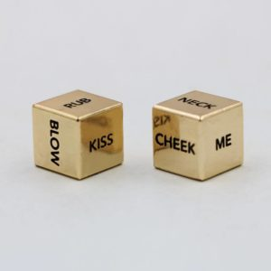 a pair english sexy metal gold dice action dice couple lover dice 1