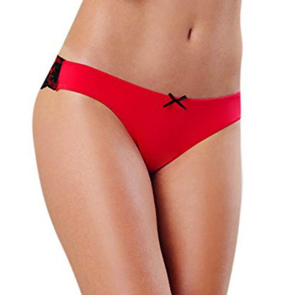 dreamgirl cheeky panty with cross dye lace
