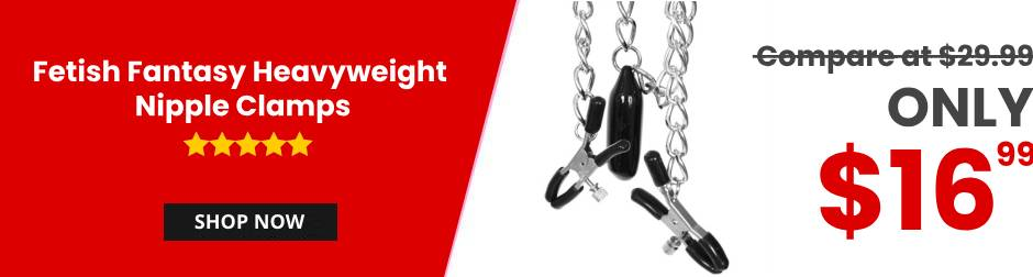 fetish fantasy heavyweight nipple clamps banner