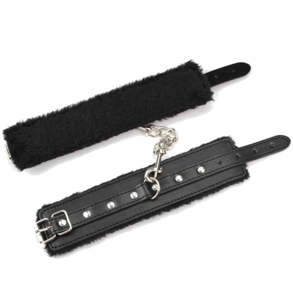 Ouch! Plush Leather Wrist Cuffs