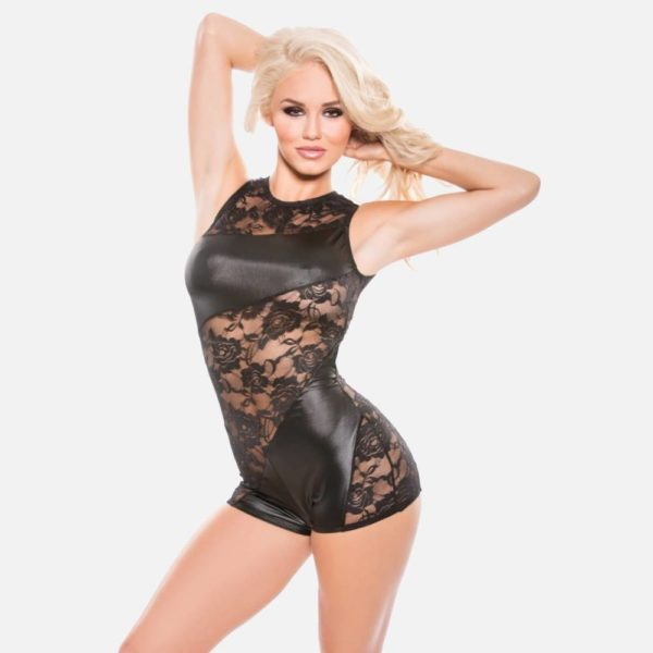 Wetlook Jumper with Lace